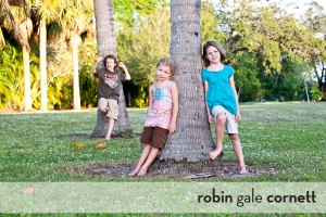 my three children in a fort myers park