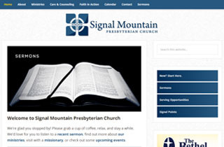 Signal Mountain Presbyterian Church custom website